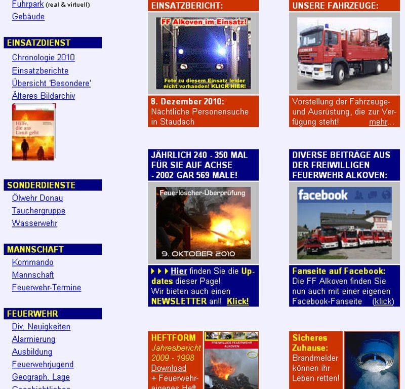 19.12.2010: Internetauftritt umgestellt und ausgebaut