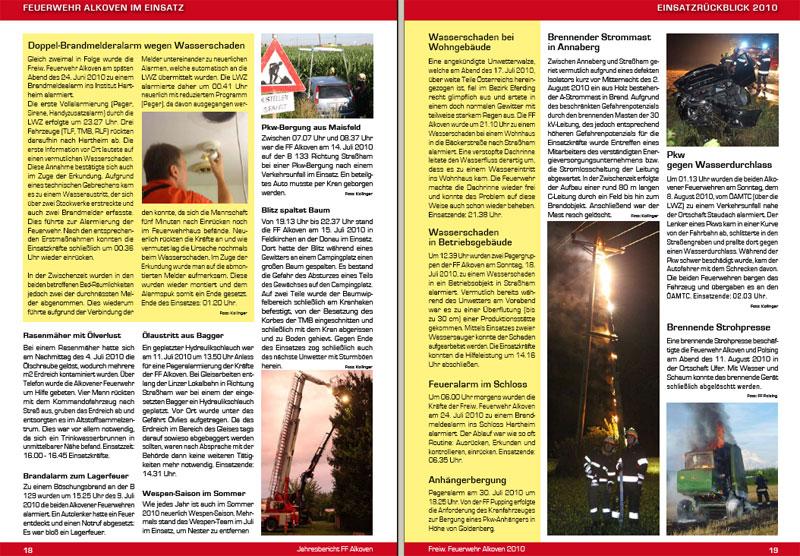 09.01.2011: Jahresbericht 2010 als PDF zum Download