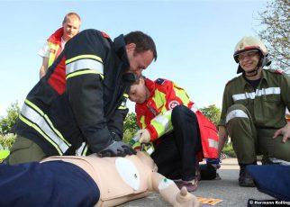 Unfalleinsatzübung in Ufer / Foto: Kolli