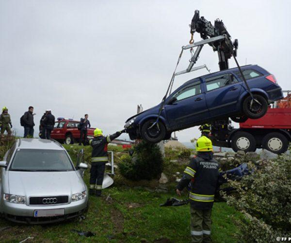 Unfall B 129 / Wehrgasse (Foto: FF Polsing)