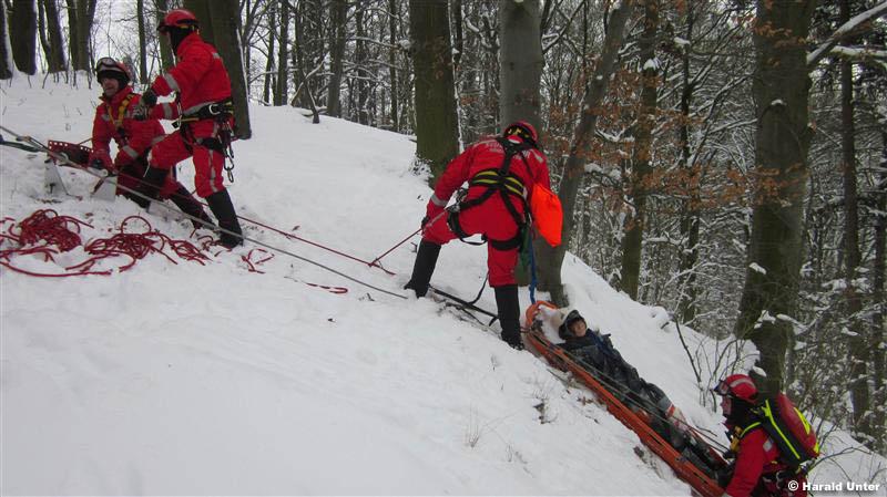Höhenretterübung / Foto: Harald Unter