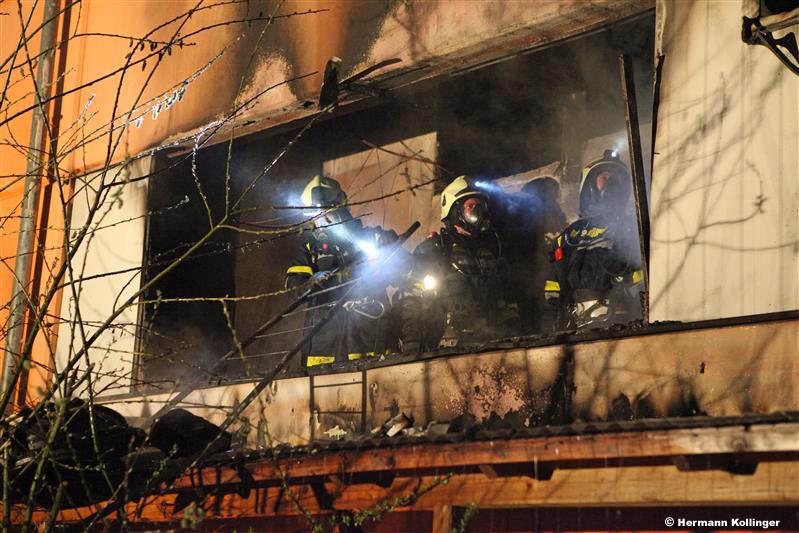 15.04.2013: Assistenzeinsatz bei Wohnungsbrand in Schönering
