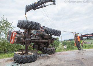 Traktorbergung / Foto: Kollinger