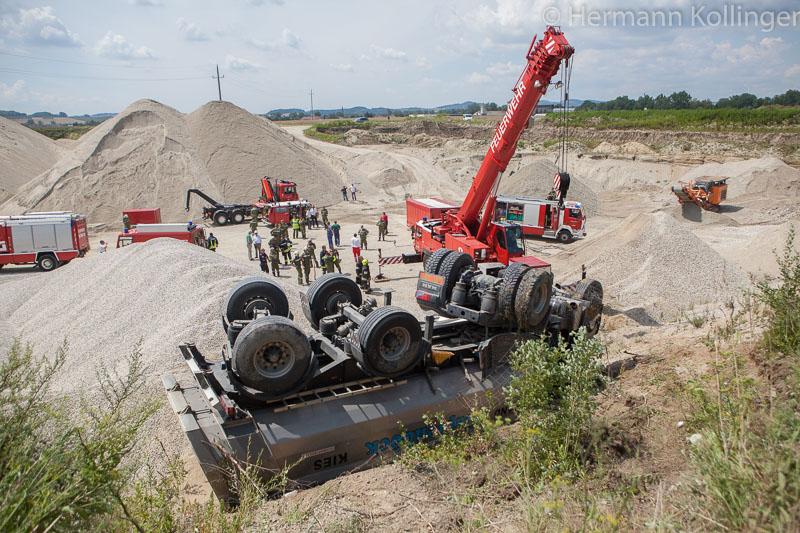 Lkw-Unfall / Foto: Kollinger