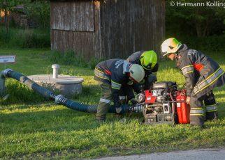 Brandübung / Foto: Kollinger