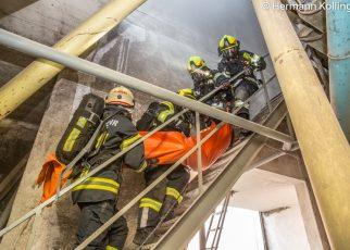Brandeinsatzübung / Kollinger