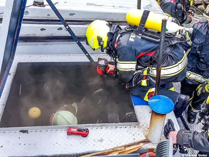 Brand auf Schiff / Foto: M. Unter