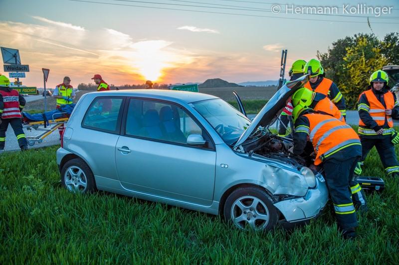 16.04.2019: Kreuzungsunfall mit zwei Pkw in Weidach