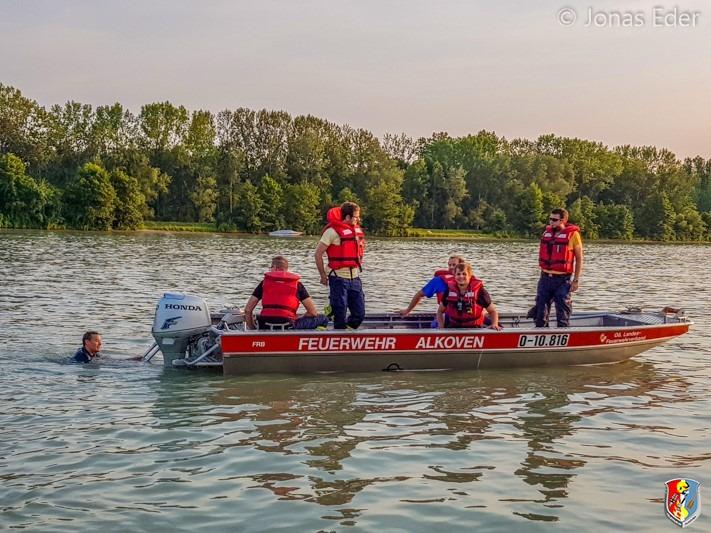 18.07.2019: Wasserdienstschulung auf der Donau