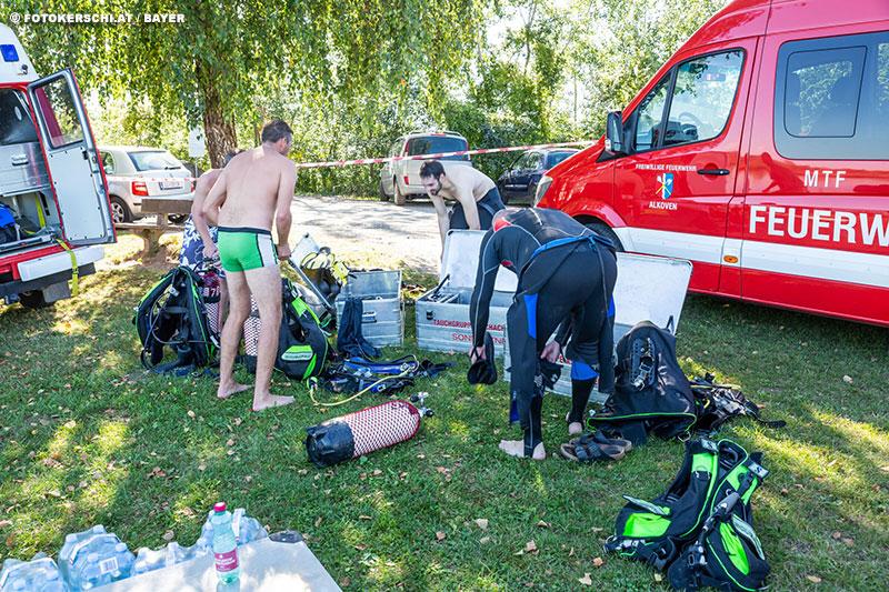 18.08.2019: Person ertrunken → Taucheinsatz Feldkirchen