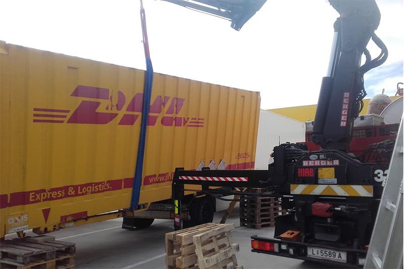 12.09.2019: Komplexe Container-Bergung in Hörsching