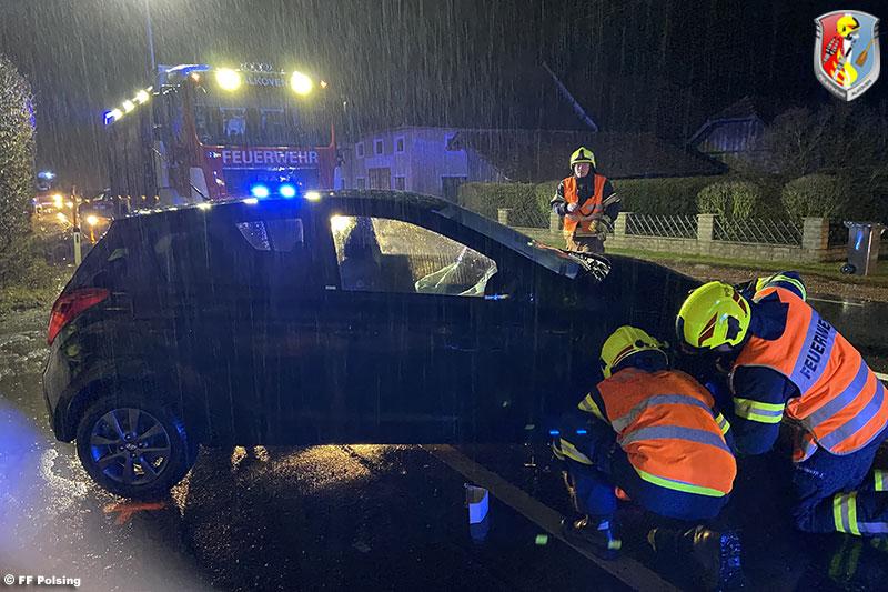 02.02.2020: Verletzte Person bei Pkw-Kollision auf B 129 in Straß