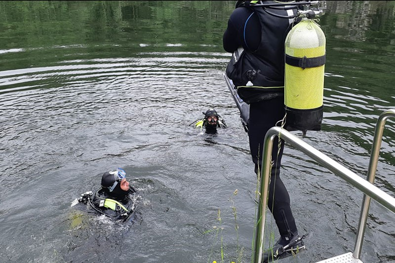 11.06.2020: Taucher-Trainingsgang in der Resi Lacke in St. Martin / Mkr.