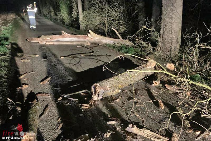 05.04.2021: Sturmschaden → Baumteile auf der Innbachstraße in Gstocket