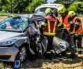 24.07.2019: Personenrettung nach Unfall mit zwei Pkw und einem Lkw