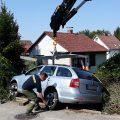 31.08.2019: Kraneinsatz bei Autobergung in Straßham