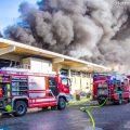 10.10.2019: Assistenz-Einsatz bei Großbrand in Hörsching